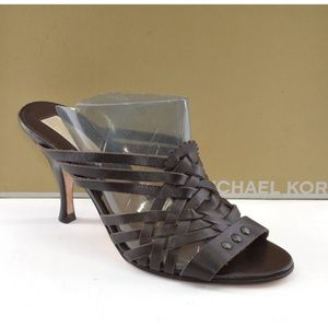 Michael Kors Pueblo Brown Strappy Sandals 7 M New